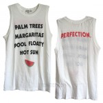 Palm Trees Perfection Destroyed Muscle Slub Tank