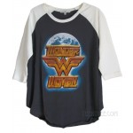 Wonder Woman The Universe Destroyed Color Block Raglan T