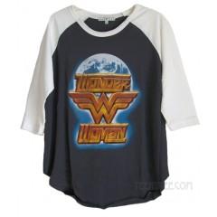 Wonder Woman The Universe Destroyed Color Block Raglan T