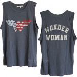 Wonder Woman Destroyed Slub Muscle Tank