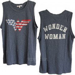 Wonder Woman Destroyed Slub Muscle Tank