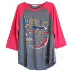 Wonder Woman Be Your Own Vintage Boyfriend Raglan T