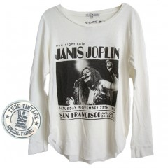 Janis Joplin One Night Only Iconic Longsleeve T-shirt