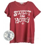 Sweet Like Honey Destroyed Finish Fitted Crew T-shirt