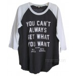 The Rolling Stones You Can't Always Get What You Want Backstage Raglan T
