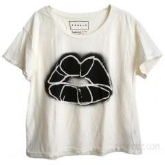 Donald Robertson Lips Slub Jersey Ex Boyfriend T-shirt