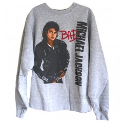 Michael Jackson BAD Oversized Pullover Sweat Shirt with Soft Fleece