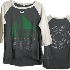 Pink Floyd MOON 3/4 Color Block Raglan Fitted T-shirt