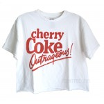 Cherry Coke Cropped Boxy T-shirt