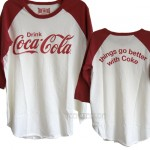 Coca Cola Classic  Destroyed Finish Color Block Raglan T-shirt