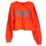 FANTA Cropped Boxy Sweat shirt with Soft Fleece