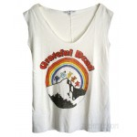 Grateful Dead Bear Back Stitch Cut off Easy Muscle Tank