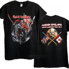 Iron Maiden North US Tour 2012 Fitted Crew T-shirt