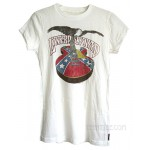 Lynyrd Skynyrd Rebel Guitar Fitted Crew Slub T-shirt