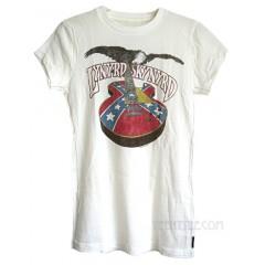 Lynyrd Skynyrd Rebel Guitar Fitted Crew Slub T-shirt