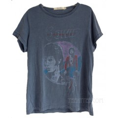 David Bowie Classic Fits Crew T-shirt Destroyed