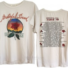 Grateful Dead Tour 74 Destroyed Tri-Blend T-shirt
