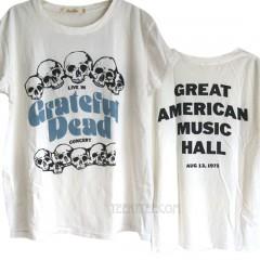 Grateful Dead Puffy Ink Print Boyfriend T-shirt