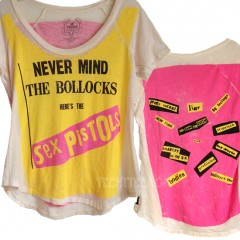 Sex Pistols Never Mind Deep Crew A-Line Raglan T-shirt