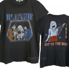 Blondie Silver Glitter Destroyed Finish Oversized T-shirt