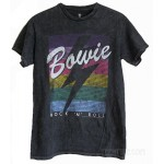 David Bowie Black Mineral Wash Unisex Style & Size T-shirt