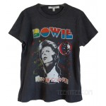 David Bowie Red Glitter Original Tri-Blend Disco T-shirt Destroyed