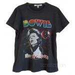 David Bowie Red Glitter Original Tri-Blend Disco T-shirt Destroyed