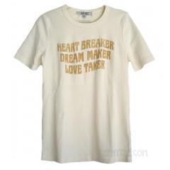 Heartbreaker Lyric Slim Cotton Rib T-shirt
