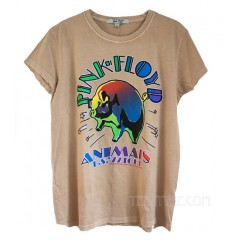 Pink Floyd Animals Glitter Destroyed Finish Retro T-shirt