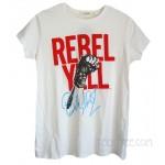 Billy Idol Rebel Yell Puff Print Vintage Style T-shirt