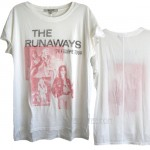 The Runaways '76 Euro Tour Inside Print Tissue T-shirt