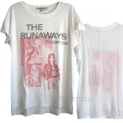 The Runaways '76 Euro Tour Inside Print Tissue T-shirt