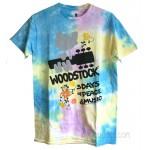 Woodstock Peace & Music Tie Dye T-shirt Unisex Style & Size