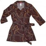 70's Scarf Print Shirt Tunic