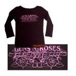 Guns N' Roses Pistol Logo 3/4 Sleeves