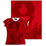 T. Rex Marc Bolan White Ringer T