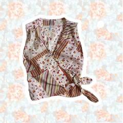 Floral Wrap Tie Up