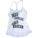 Love Stinks Let's Drink Knockout Racer Back Tank
