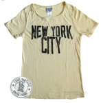 New York City Distressed Flocking Print T