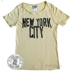 New York City Distressed Flocking Print T