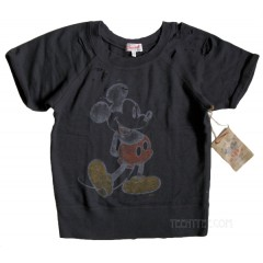 Mickey Mouse Sweat Jersey Distressed Pullover