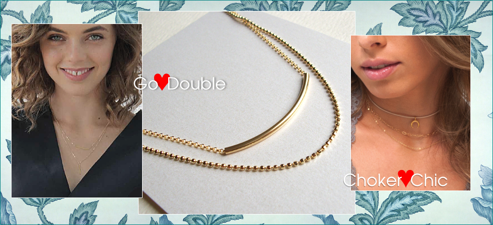 Dogeared Double Necklace Choker