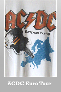 Junk Food ACDC Europe Tour 1978 t-shirt for Men