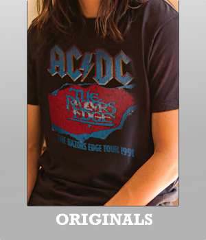 Junk Food Originals ACDC Razors Edge Tour 1991 t-shirt for Men