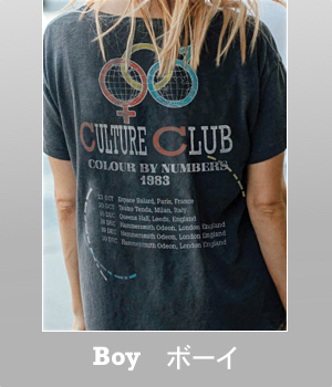 Junk Food Culture Club 30 year wash destroyed ex-boyfriend t-shirt for women