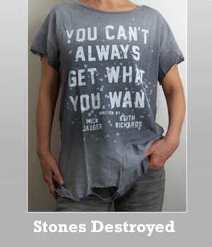 The Rolling Stones You can't always get what you want Destroyed t-shirt for women