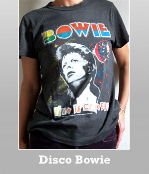 Junk Food David Bowie Studio 54 Vibe Disco Bowie t-shirt for women