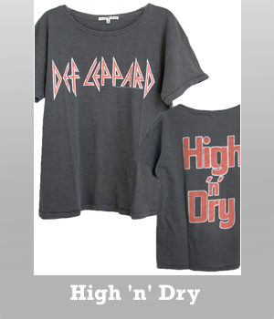 Junk Food Def Leppard High 'n' Dry ex-boyfriend t-shirt for women