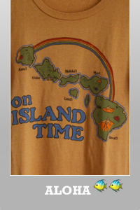 Junk Food On the island time Hawaii destroyed destination t-shirt for women.
