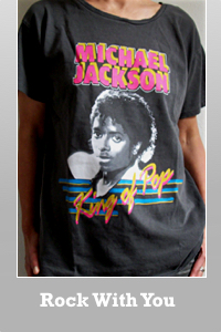 Junk Food Michael Jackson 30 year wash King of pop t-shirt for Women.